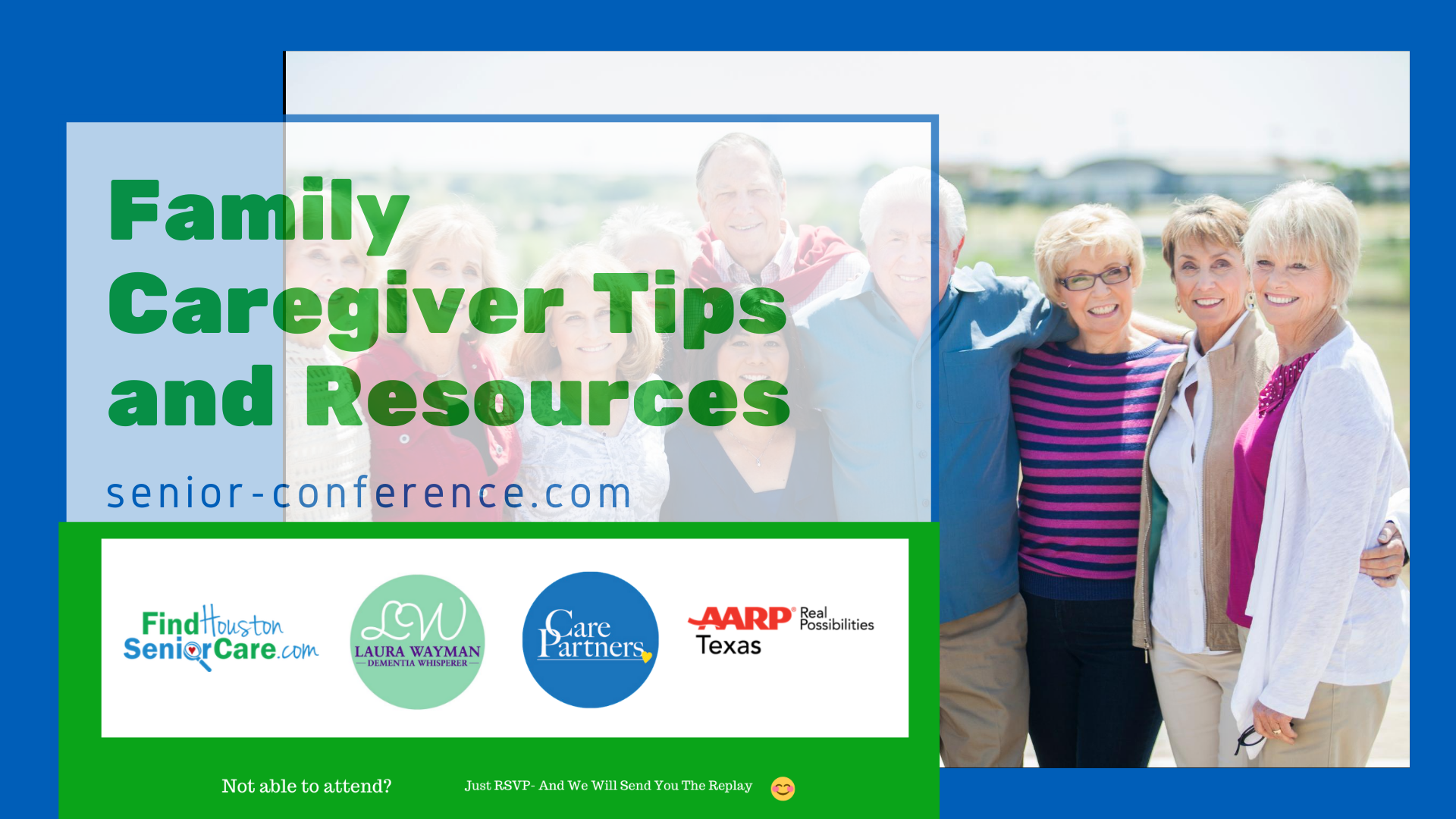 Family caregiver tips and resources conference banner